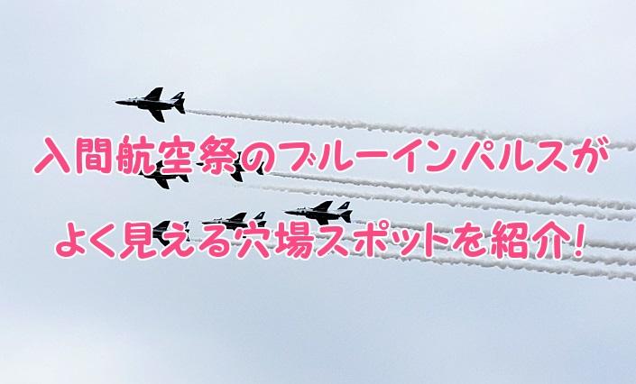 入間航空祭 ブルーインパルスの穴場スポット